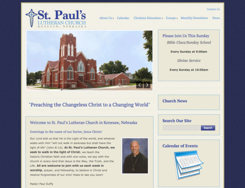 St. Paul's Lutheran – Kenesaw Website Launch
